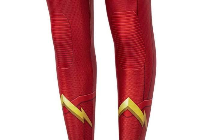 Kids The Flash Season 6 Barry Allen Jumpsuit Cosplay Costume Bodysuit