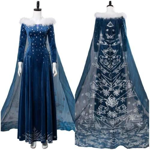 Olaf'S Frozen Adventure Princess Elsa Dress Cosplay Costumes