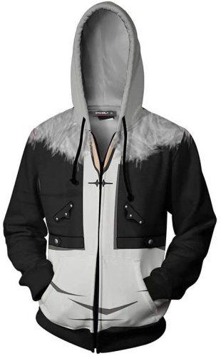 Final Fantasy Ⅷ 8 Game Squall Leonhart Cosplay Unisex 3D Printed Hoodie Sweatshirt Jacket With Zipper
