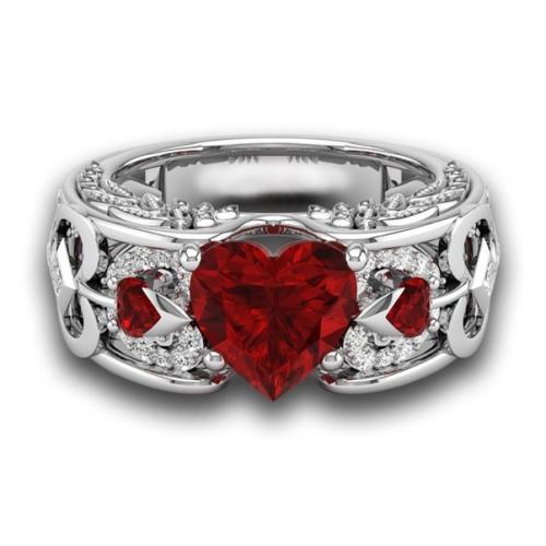 Queen Of Hearts Steel Ring