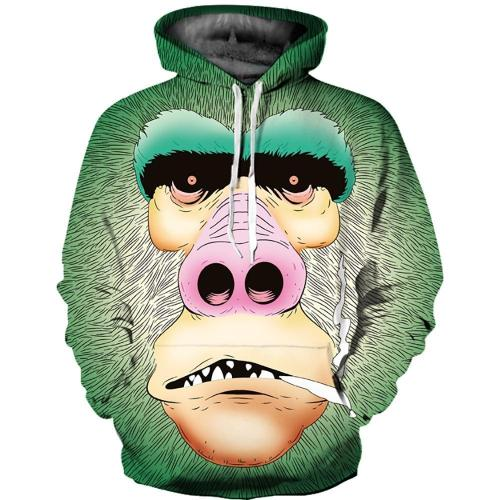 A Blunt Gorilla Hoodie 3D Logo Sweatshirt