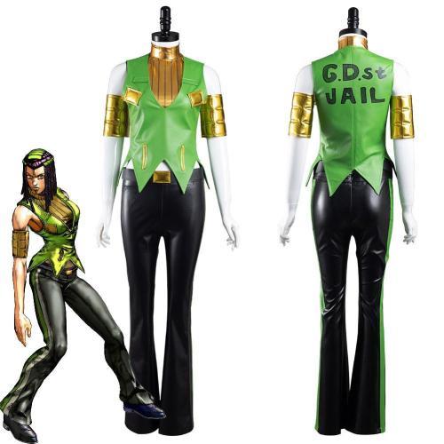 Jojo'S Bizarre Adventure Ermes Costello Outfits Halloween Carnival Suit Cosplay Costume