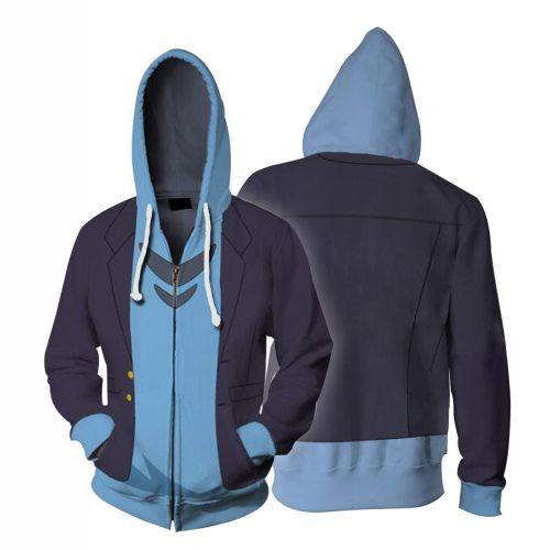 Ssss.Dynazenon Anime Asanaka Yomogi Cosplay Unisex 3D Printed Hoodie Sweatshirt Jacket With Zipper
