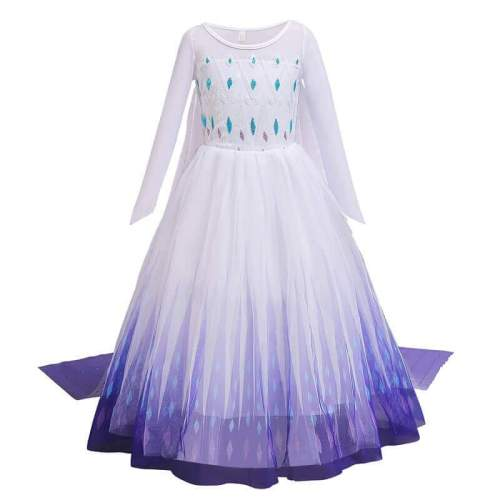 Kids Girls Princess Elsa White Dress Cosplay Costume Birthday Clothing