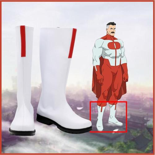 Invincible Omni-Man Boots Halloween Costumes Accessory Custom Made Cosplay Shoes