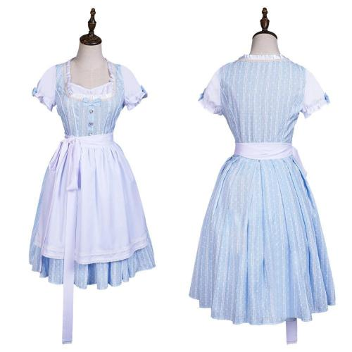 Movie The Wizard Of Oz Dorothy Gale Maid Dress Outfits Halloween Carnival Suit Cosplay Costume