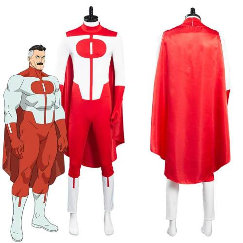 Invincible Omni Man Cosplay Costumes Outfits With Cloak Halloween Suit