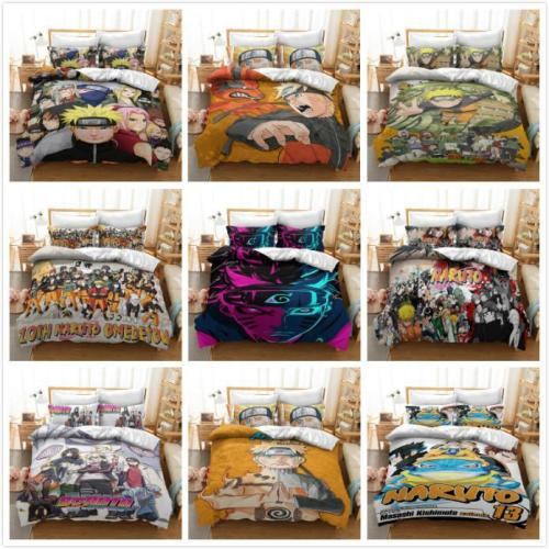 Cosicon Anime Naruto Cosplay Duvet Cover Set Halloween Christmas Quilt Cover
