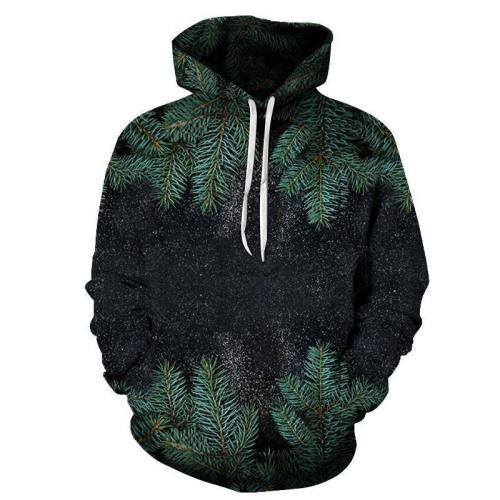 Pine Tree 3D Sweatshirt Hoodie Pullover