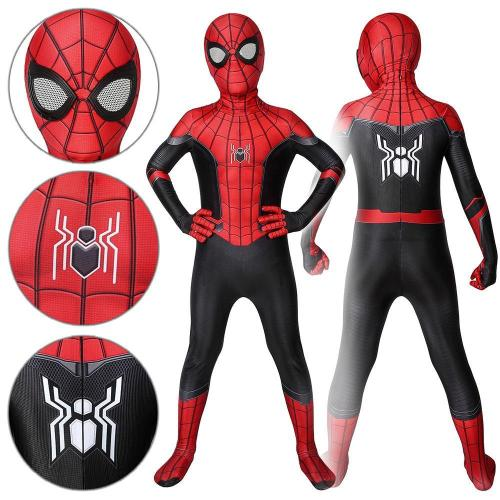 Kids Spider-Man Peter Parker The Upgraded Suit Spider-Man: Far From Home Cosplay Costume -
