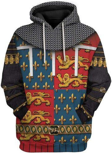 The Black Prince Historical Figure Unisex 3D Printed Hoodie Pullover Sweatshirt