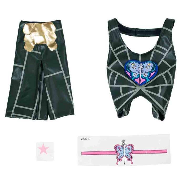 Anime Jojo'S Bizarre Adventure Stone Ocean Jolyne Cujoh Skirt Outfits Halloween Carnival Suit Cosplay Costume