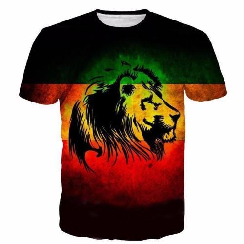 Exclusive: Lion Reggae Flag 3D T-Shirt