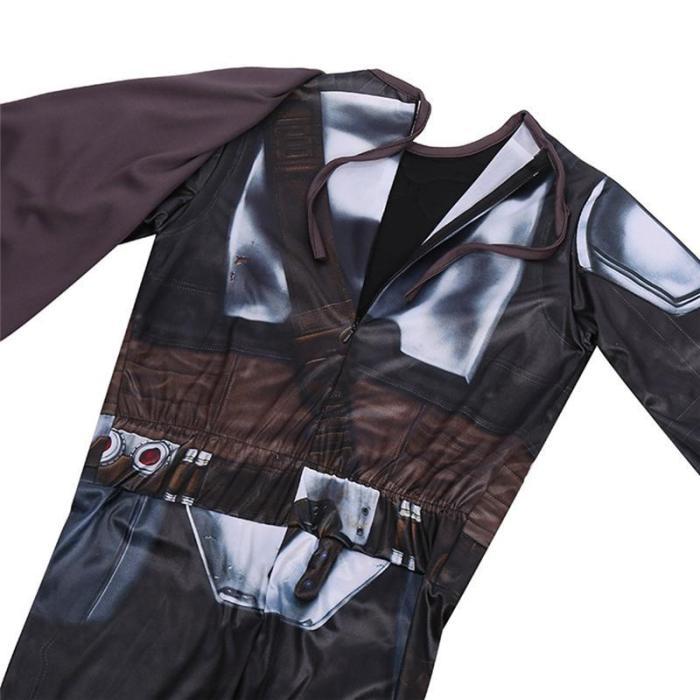 Kids Galaxy Bounty Hunter The Mandalorian Cosplay Costume Uniform Suit
