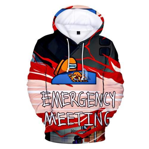Kids Style-2 Impostor Crewmate Among Us Cartoon Game Unisex 3D Printed Hoodie Pullover Sweatshirt