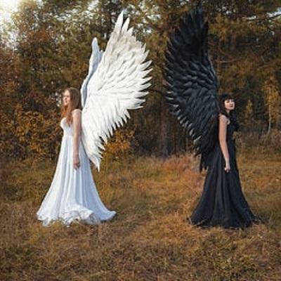 Halloween 3D Angel Devil Big Wings