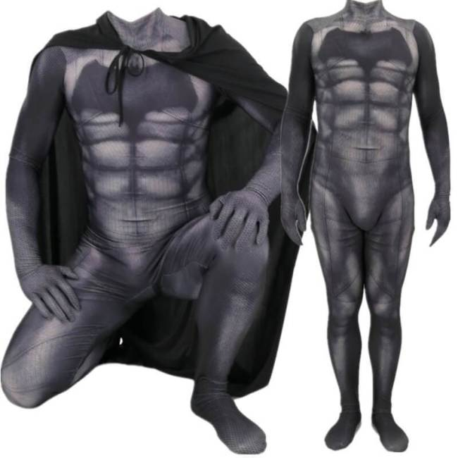 Dawn Of Justice Bruce Wayne Batman Cosplay Costume Bodysuit With Cloak