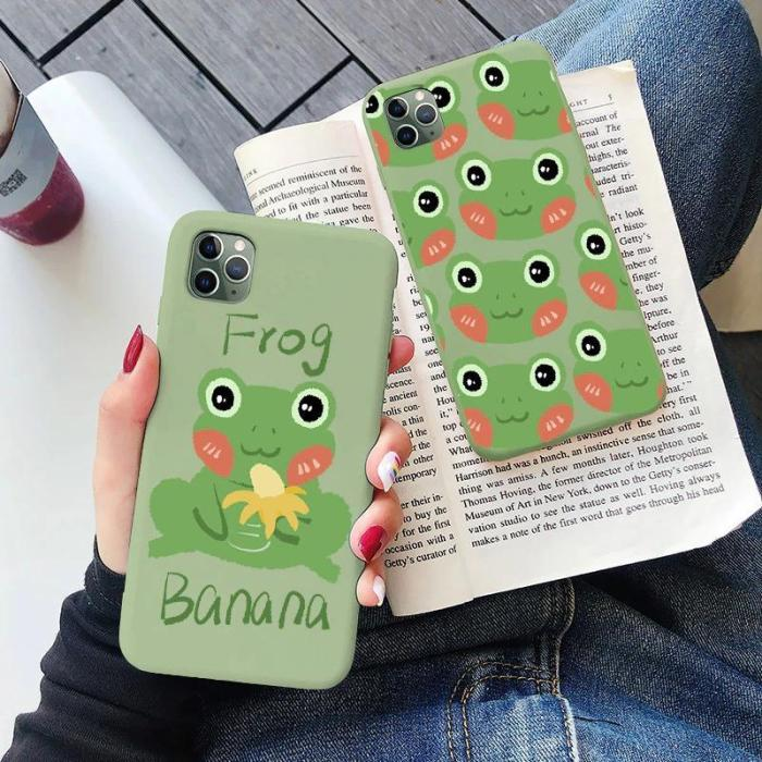 Mint Green Funny Frog Phone Case For Iphone