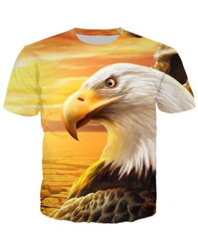 Usa Eagle Sunset T-Shirt