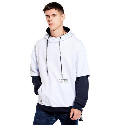 Hoodie Sweatshirt Mens Hip Hop Streetwear Colorblock Hoodie