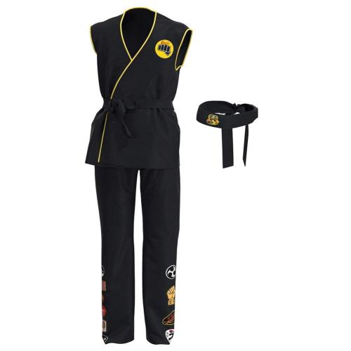 Cobra Kai Top Pants Outfits Halloween Carnival Suit Cosplay Costume