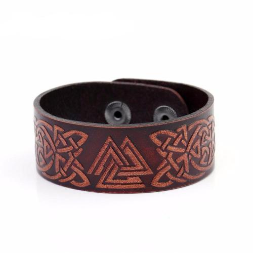 Talisman Viking Leather Bracelet