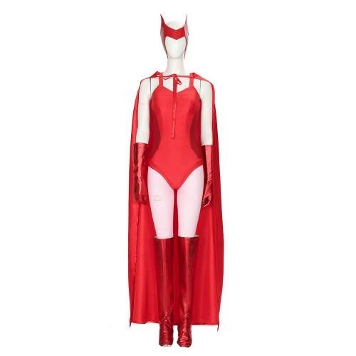 Wandavision Scarlet Witch Wanda Red Suit Cosplay Costumes