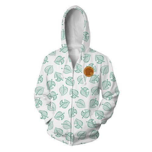 Animal Crossing  Horizons Game Tom Nook Cosplay Unisex 3D Printed Hoodie Sweatshirt Jacket With Zipper