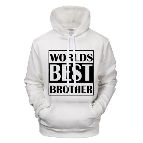 Worlds Best Brother 3D - Sweatshirt, Hoodie, Pullover