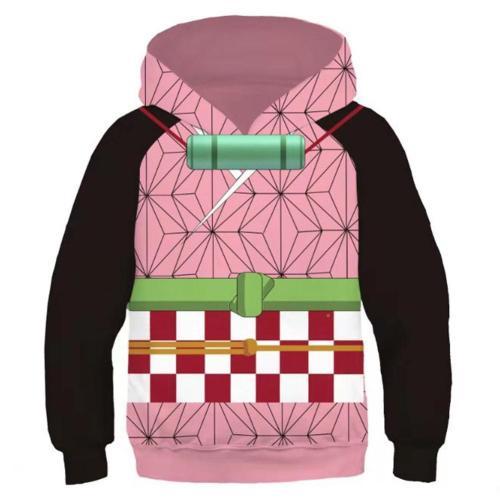 Kids Demon Slayer: Kimetsu No Yaiba Kamado Nezuko Cosplay Hoodies Boys Girls Long Sleeve Pullover Sweatshirt
