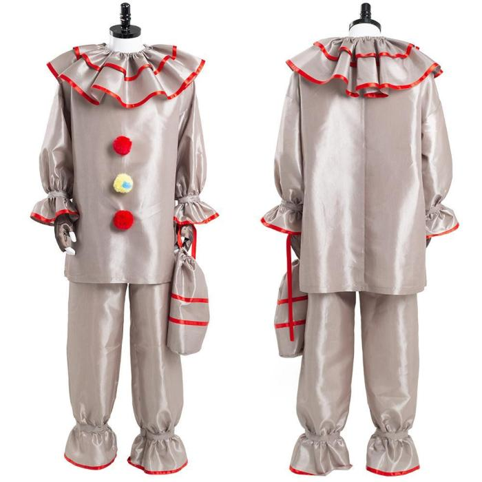 It Pennywise The Dancing Clown Horror Movie Halloween Carnival Suit Cosplay Costume