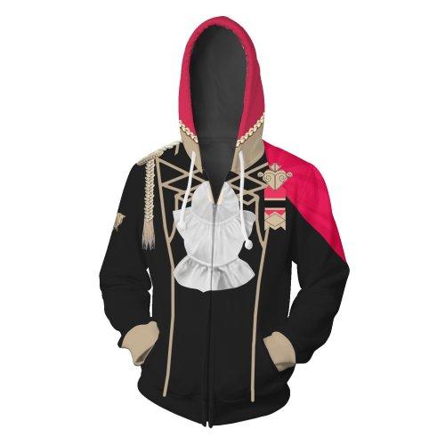Fire Emblem Threehouses Game Edelgard Von Fresberg Cosplay Unisex 3D Printed Hoodie Sweatshirt Jacket With Zipper