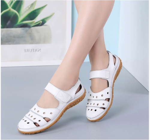 Women'S Hollow Hook Flat Sandals