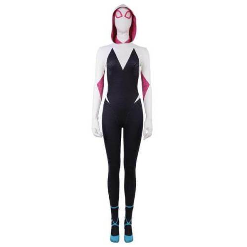 Spider-Man: Into The Spider-Verse Gwen Stacy Cosplay Jumpsuit Costume