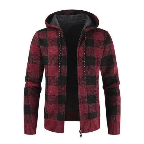 Winter Men'S Thick Warm Cardigan Knitted Sweater Plus Velvet