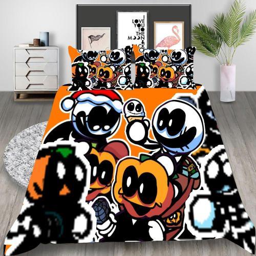 Friday Night Funkin Cosplay Bedding Set Duvet Cover Pillowcases Halloween Home Decor