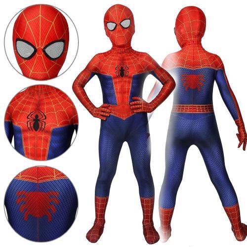 Kids Spider-Man Peter Parker Spider-Man: Into The Spider-Verse Jumpsuit Cosplay Costume -