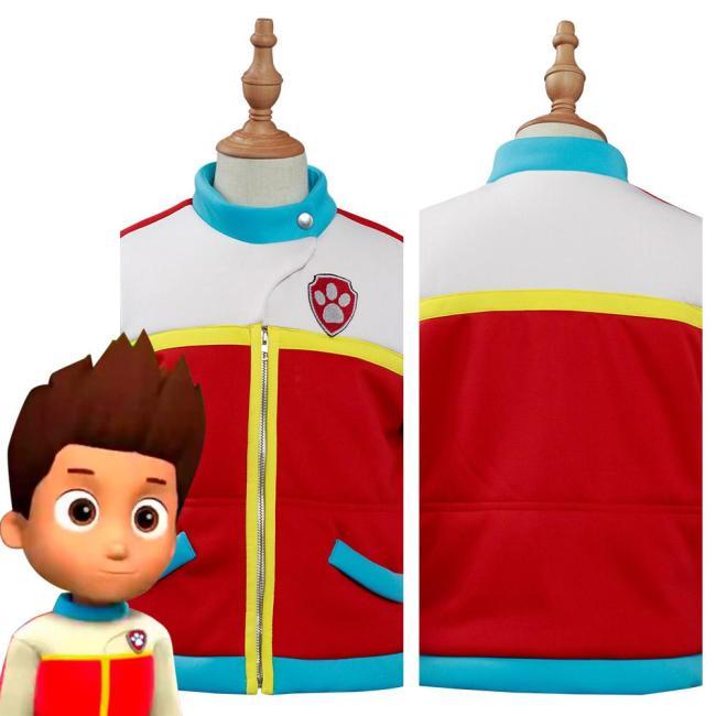 Paw Patrol Captain Ryder Kids Children Jacket Coat Top Halloween Carnival Suit Cosplay Costume