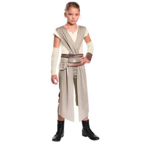 Star Wars Kids Girls Classic Rey Fancy Dress Halloween Cosplay Costume