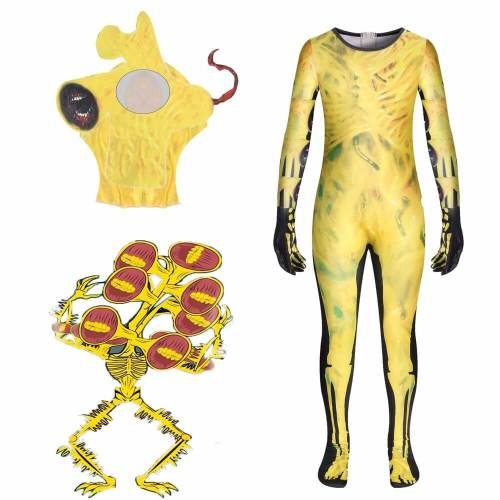 Kids Siren Head Jumpsuit Bodysuit Suit Halloween Party Cosplay Costume