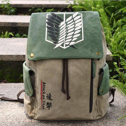 Anime Attack On Titan Cosplay Canvas Backpack Halloween School Bags