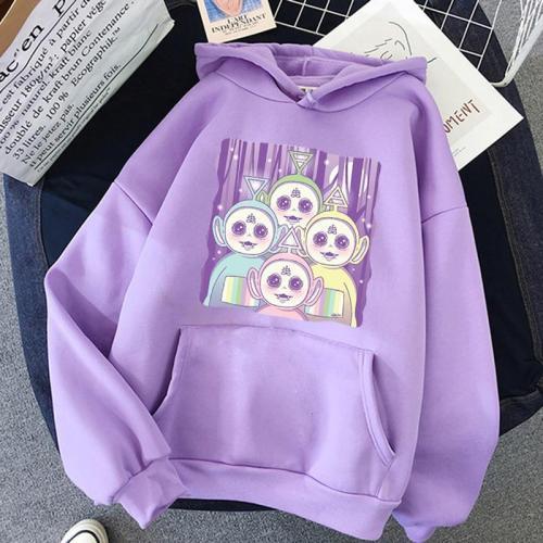 Women Sweatshirt Kpop Korean Cute Tops Graphic Tees Print Harajuku Loose Oversize Hoodie