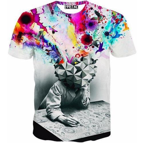 Hipster Thinker 3D T-Shirt V1