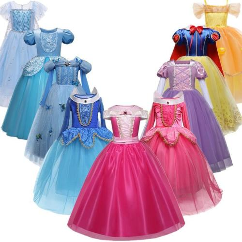 Girls Princess Dress Halloween Costume Birthday Party Clothing For Children Kids Vestidos Robe Fille Girls Fancy Dress