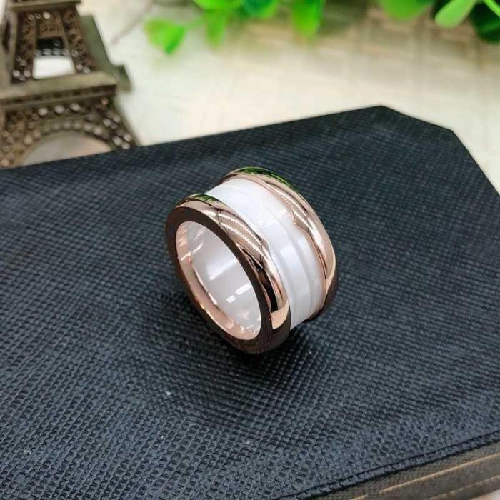 High-Fashion Wide Ceramic Rings