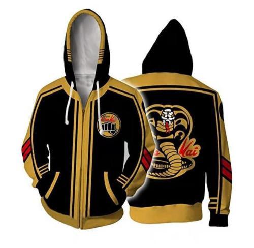 Cobra Kai Karate Cool Black Mamba Fashion Cosplay Costume Hoodie