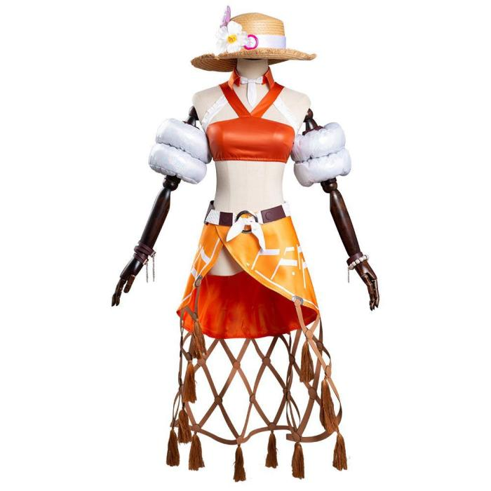 Game Overwatch Ow  Ashe Summer Skin Shirt Pants Outfits Halloween Carnival Suit Cosplay Costume