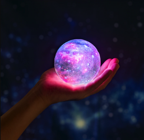 3D Print Star Moon Colorful Lamp