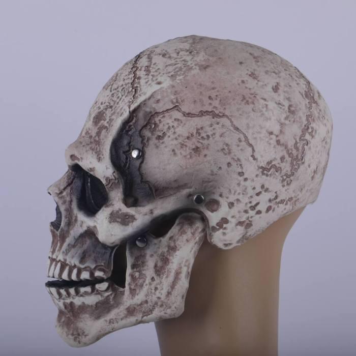 Halloween Horrible Mask Skull Skeleton Cosplay Latex Helmet