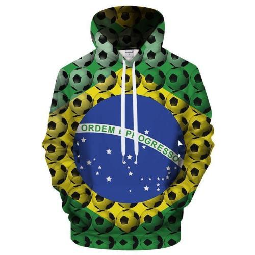 Brazil Soccer Fan 3D - Sweatshirt, Hoodie, Pullover